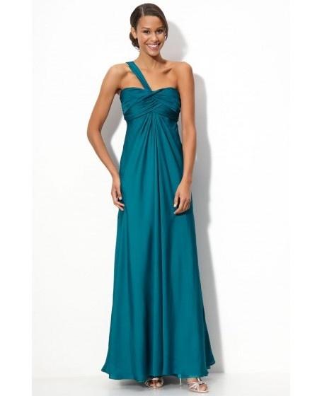 Criss-cross Empire One-shoulder Bridesmaid Dress
