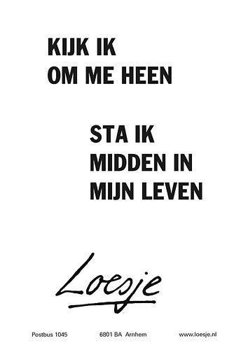 Kijk ik om me heen...#Loesje