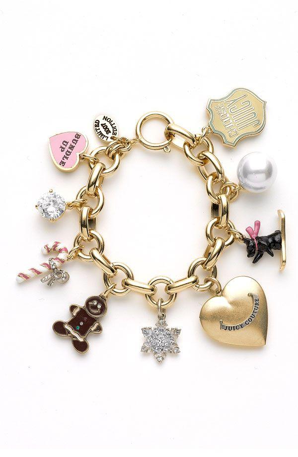 juicy couture jewelry | Juicy Couture Jewelry 'Holiday Themed' Charm Bracelet| YoYosilver.com