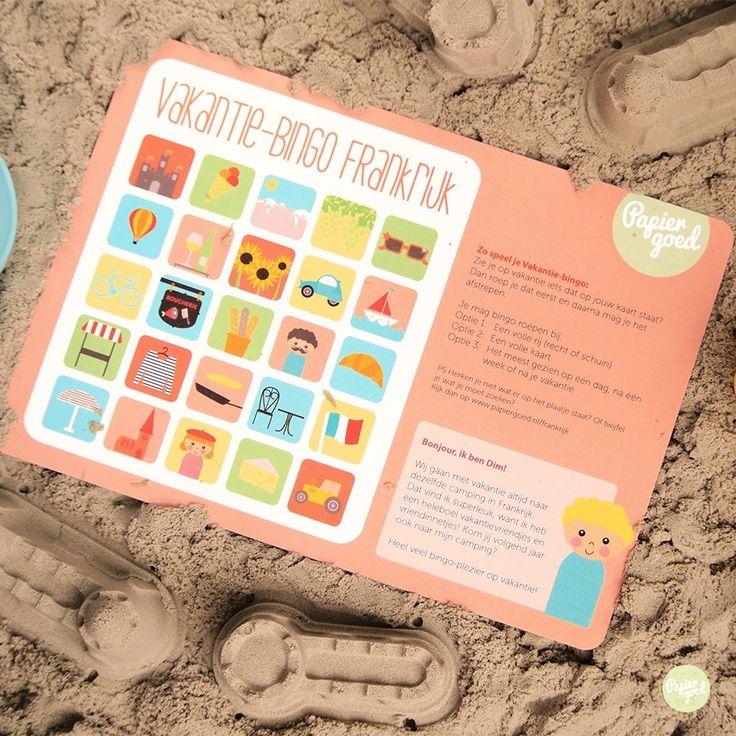 Hoe houd je kinderen lekker bezig tijdens de vakantie? Nou, met Vakantie-bingo! Zo leer je op een leuke manier je vakantieland beter kennen.Je streept af wat je tegen komt op je kaart. Heb je het eerst een volle rij of een volle kaart? Bingo! Er zijn kaarten voor Duitsland/Oostenrijk, België, Neder