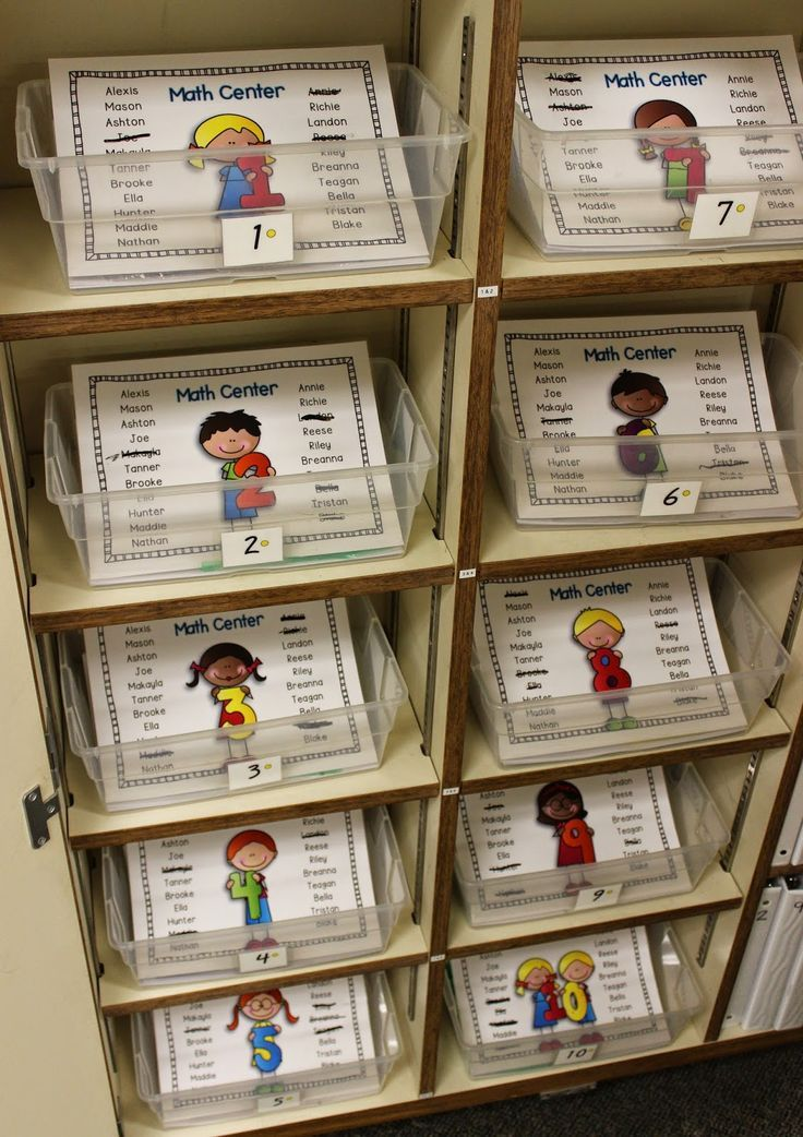 When students complete centers they mark off their names - School Is a Happy Place: Math Daily 3, How We Started