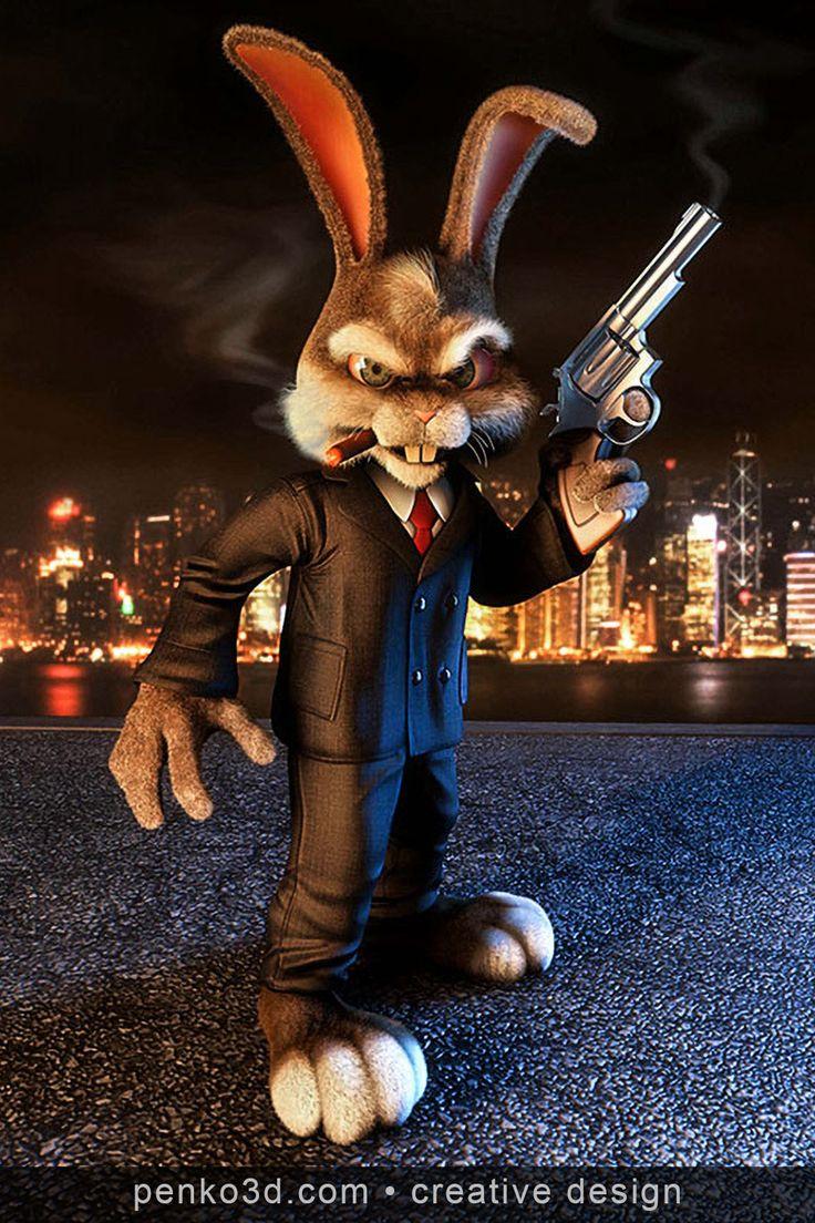 злой кролик картинки прикол требует
