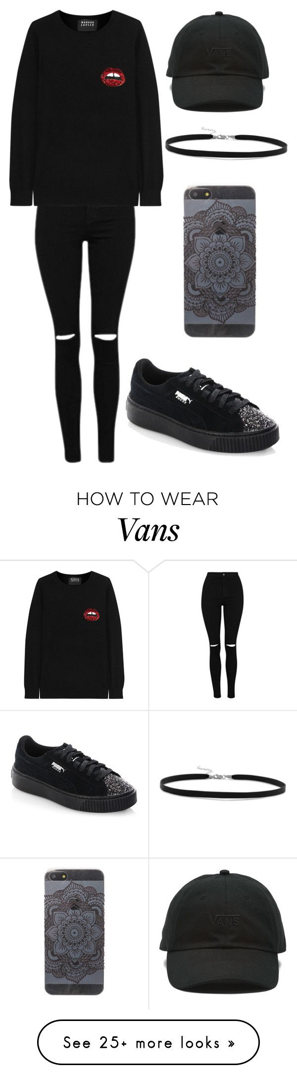 """Outfit"" by andreeadeeix12 on Polyvore featuring Markus Lupfer, Puma, Vans and BillyTheTree"