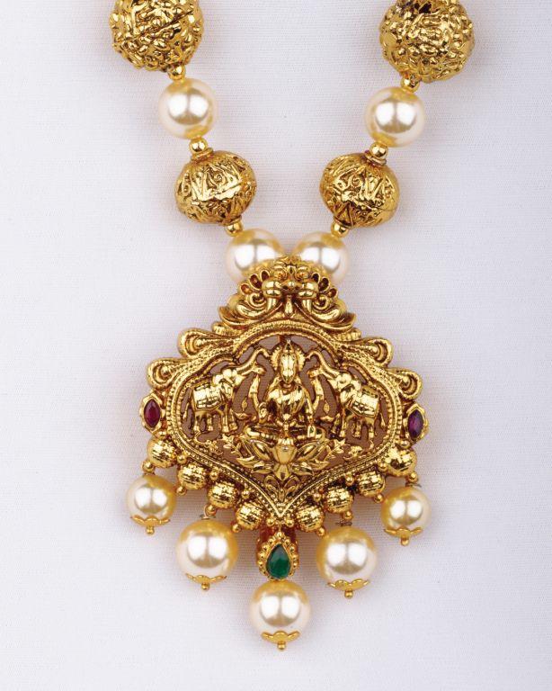 Pearl temple jewellery                                                       …