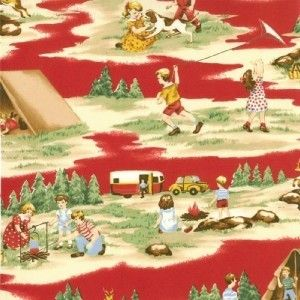 vintage camping fabric | Moda Happy Campers Retro Camping Vintage Fabric | eBay