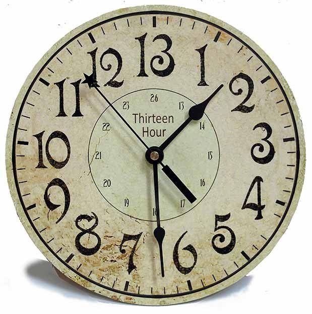 13 Hour Clock By Thewhiterabbitcom On Etsy Clock Backwards Clock Cute Clock