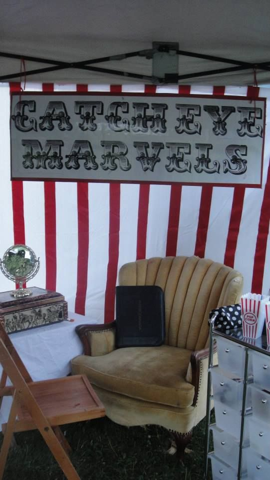 """From Another Pinner! (""""My face paint set up. Vintage Mirror check, Vintage chair check, circus stripes check, sweet sign check"""" :) www.facebook.com/catcheyemarvels"""