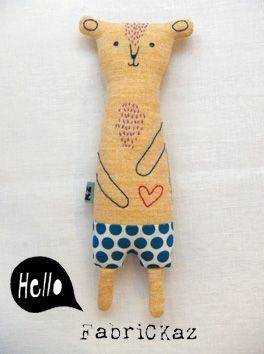 fabrickaz | chest hair bear plush #softie #doll #toy
