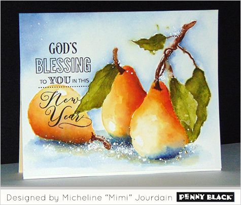 Mimi's top three watercolor tips... click through for supplies and instructions featuring Penny Black stamps