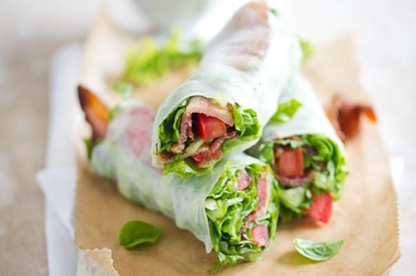 BLT Spring Roll - & some other great recipes for a take to work lunch