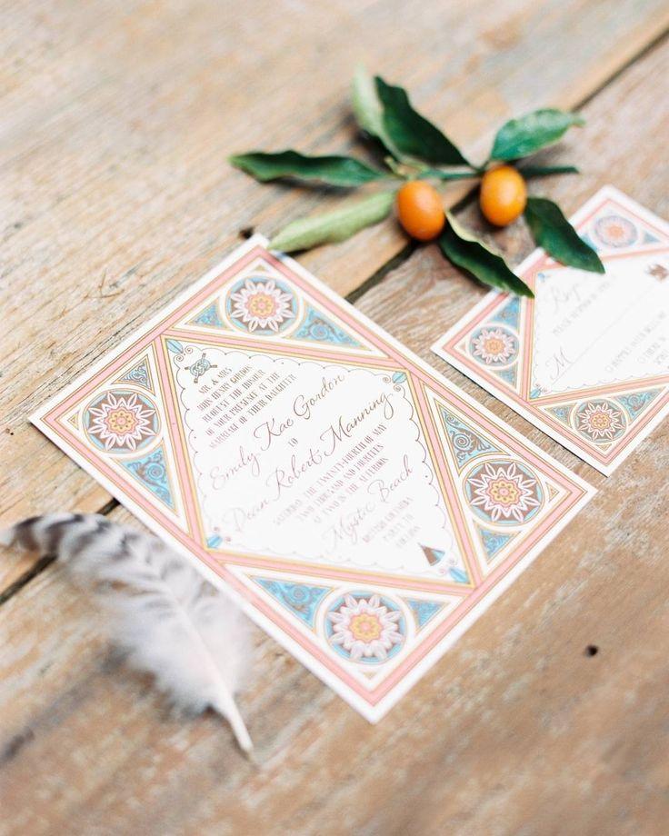 Wedding Chicks Free Invitations: Moroccan And Surf Inspired Wedding Invitations By Wedding