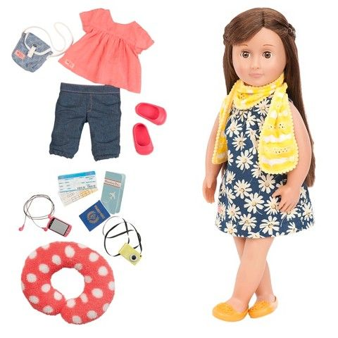 Our Generation Deluxe Poseable Travel Reese Doll 34 99