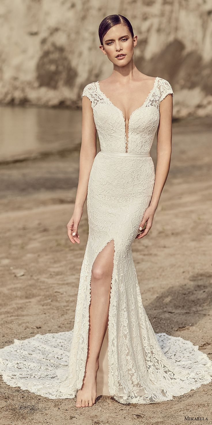 Elegant Best V neck wedding dress ideas on Pinterest Backless wedding Simple lace wedding dress and Spaghetti strap wedding dress