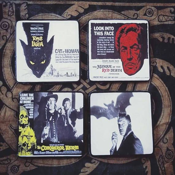 Check out this item in my Etsy shop https://www.etsy.com/ie/listing/518385348/vincent-price-coaster-set