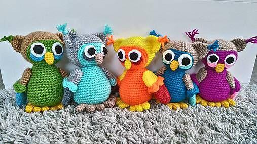 Jamin / Sovička s farebnou kombináciou na želanie  crochet owls