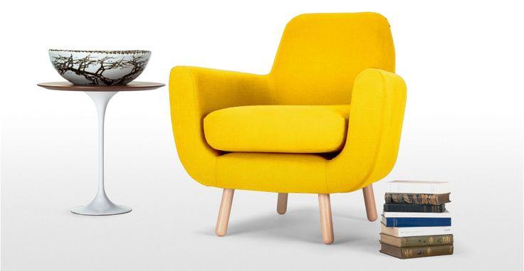 Jonah, Design de James Harrison, un fauteuil, jaune pissenlit | made.com