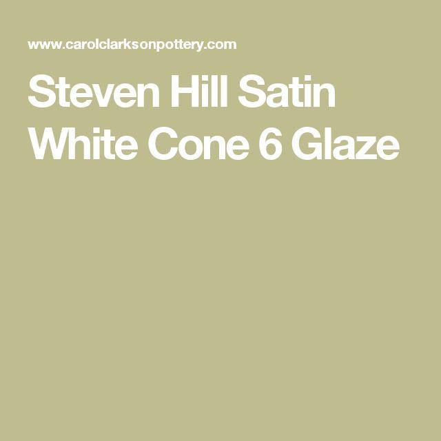 Steven Hill Satin White Cone 6 Glaze