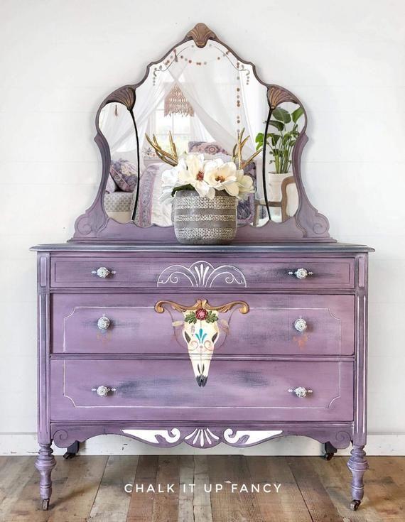 Southwestern Charm, Antique Dresser with mirror, Hand ...