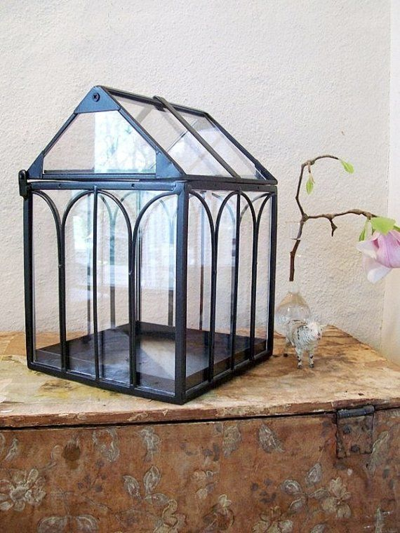 Indoor Greenhouse a Large Terrarium House for by polkadotHOME, $26.00