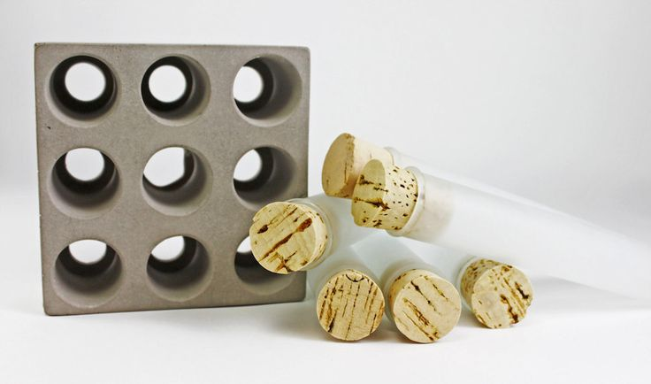 Test Tube Spice Rack Set with Concrete Base by Culinarium on Etsy