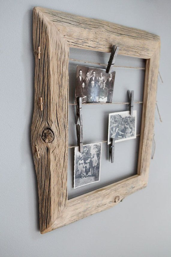 Reclaimed Farm Wood Frame with mirror 10x14 by IvarsDesign on Etsy