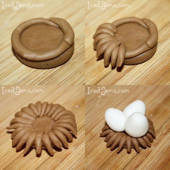 Chocolate bird nest cookies (with mini eggs)