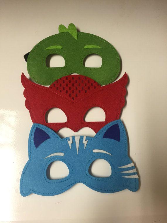 Personnalisé PJ masques ensemble cape et masque PJ masques