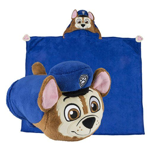 Paw Patrol Hooded Blanket - Kids Cartoon Character Blankie that Folds into a…