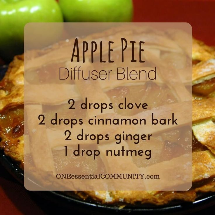 Apple Pie diffuser blend PLUS recipes for 20 fall diffuser blends -- easy, non-toxic ways to make your home smell like fall using essential oils. and there's even a FREE PRINTABLE of all the fall diffuser blend recipes!!
