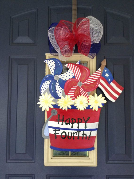 4th of july door hangers
