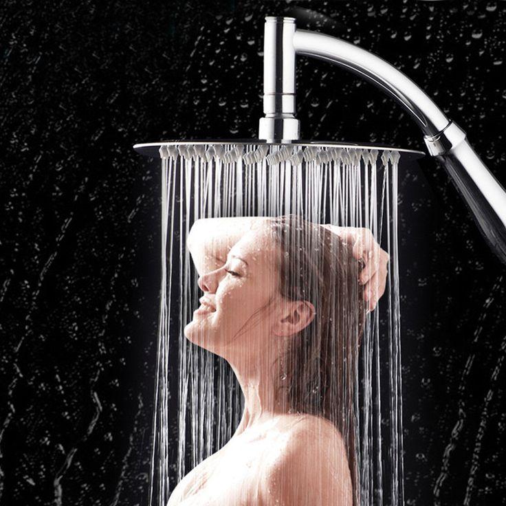 NEW 6 inch 360 Rotating Large Shower Head Bathroom Stainless Steel Rain Spray Top Water-saving High Turbo Pressure Shower