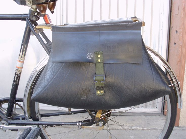 Recycled Truck Inner Tube Bicycle Pannier - ReclamationDept