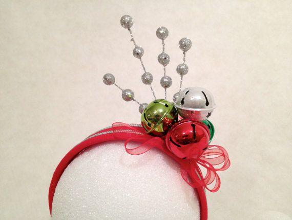 christmas fastinators   Holiday Jingle Bells Fascinator Hat Headband Ugly Christmas Sweater ...