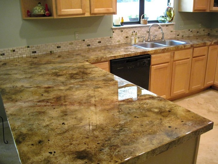 Icoat Concrete Overlay Faux Granite Look Picture By The Studio Destin Products I Love Pinterest Countertops And Kitchen