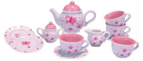 Schylling Butterfly Porcelain Tea Set Kids Girls Pretend & Play Toy New #Schylling