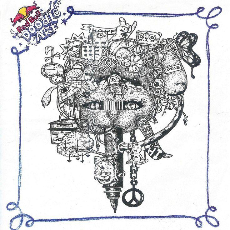 Red Bull Doodle Art Manuel Lito C. Liwanag