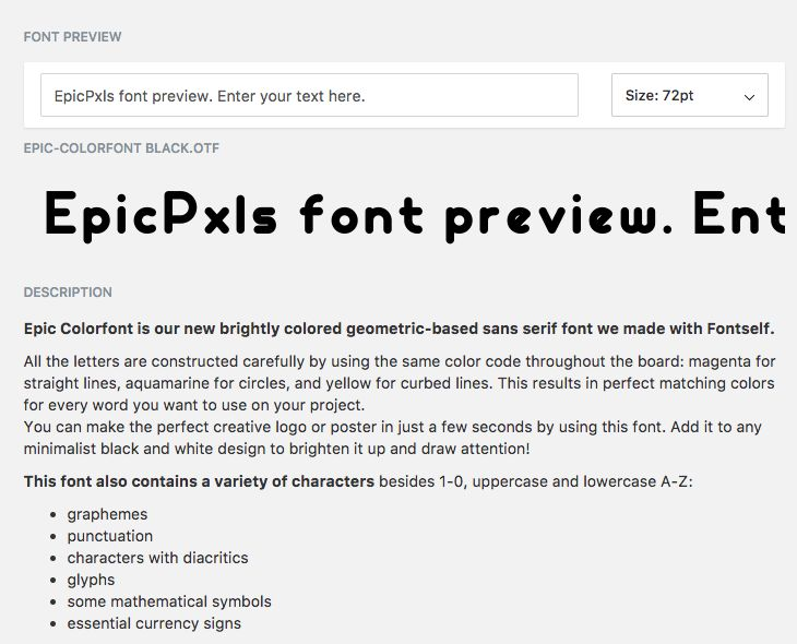 We just added the font preview feature to our items. You can now try the fonts before you buy them. We are going to add many more features in the near future. Keep close.