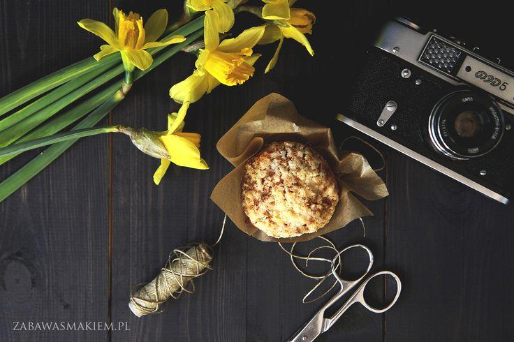 muffiny z jabłkami i krówkami