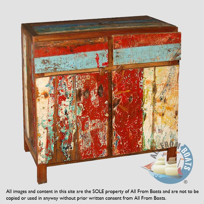 Made From Old Boatwood Recycled Reclaimed Boatwood From Old Fisherboats Wood Wood Sideboard Boat Furniture