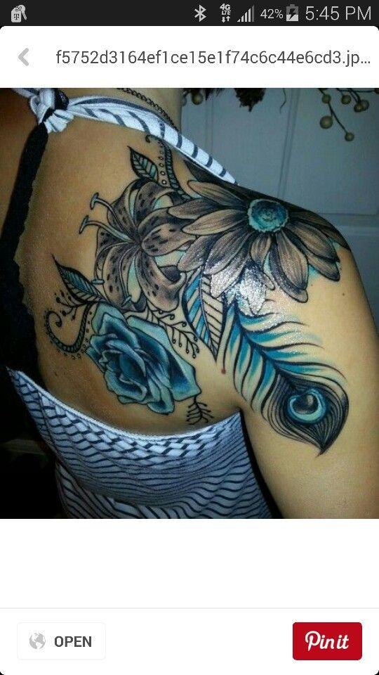 Hot woman's back tattoo