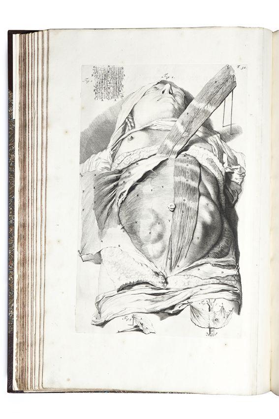 COWPER WILLIAM, The anatomy of humane bodies  OXFORD · STAMPATO PRESSO IL TEATRO · 1698  Prima edizione. Rare books - First edition - Libreria Antiquaria Borromini