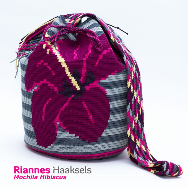 De mochila 'Hibiscus' <3 #RiannesHaaksels