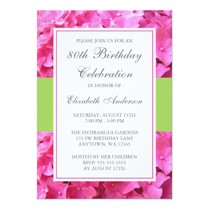 1432 best 80th Birthday Invitations images – 80th Birthday Invitation Cards