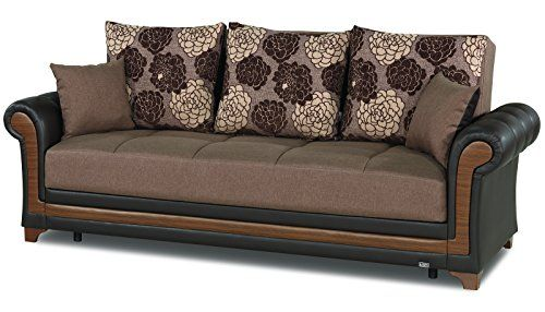 Casamode Dream Decor Sofa Bed Brown Polyester Sofa Bed Brown