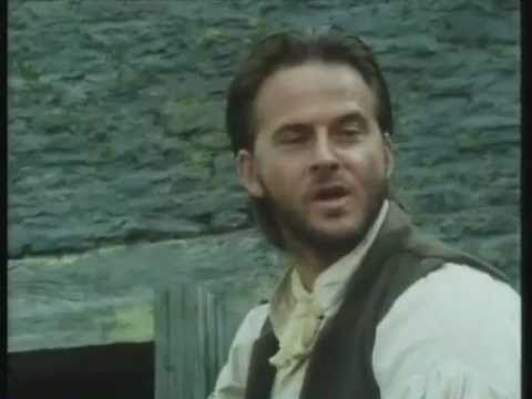 "Jem and horse with Mary at the inn. ITV ""Jamaica Inn"", 1983. Trevor Eve as Jem Merlyn and Jane Seymour as Mary Yellan."