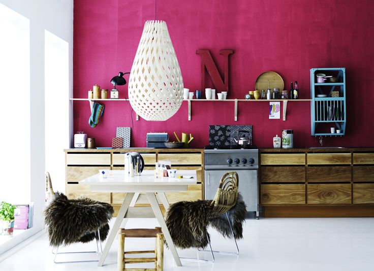 #Color #kitchen #pink