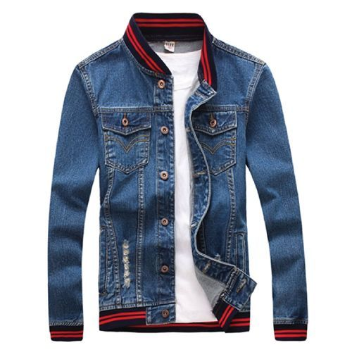 Cool Denim Jacket for him. Teen guys fashion. Swag outfits for guys. (Christmas Gifts For Teen Boys)