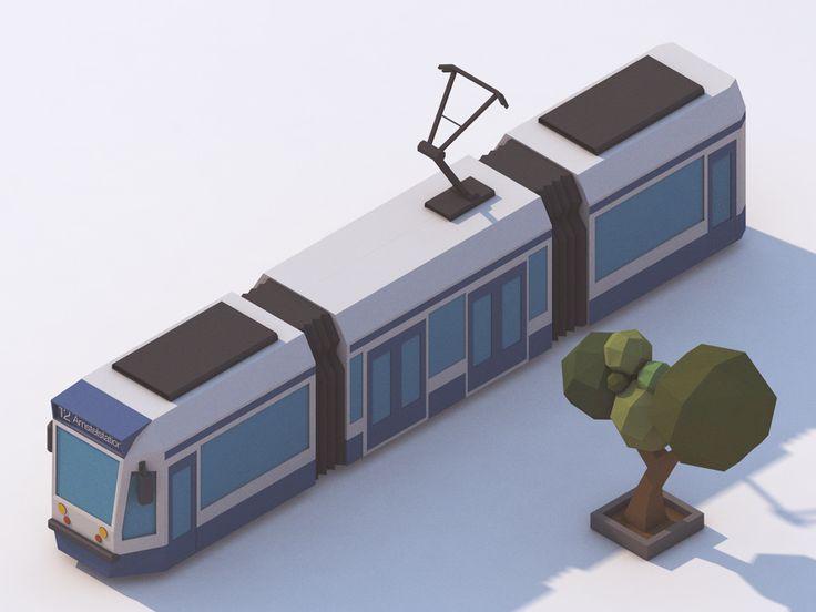 Low Poly Train - Three