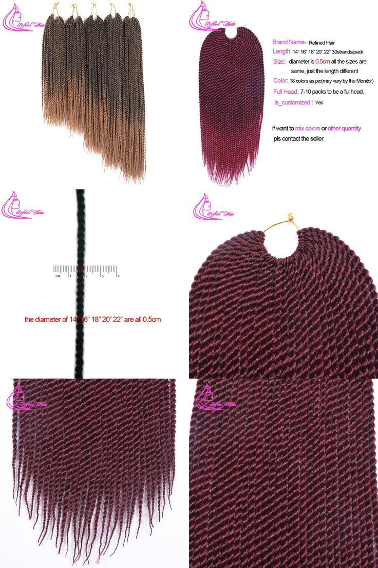 """[Visit to Buy] Refined 14"""" 16"""" 18"""" 20"""" 22"""" 30strands Ombre Kanekalon Crotchet Braid Hair Extension Synthetic Senegalese Twist Crochet Hair #Advertisement"""