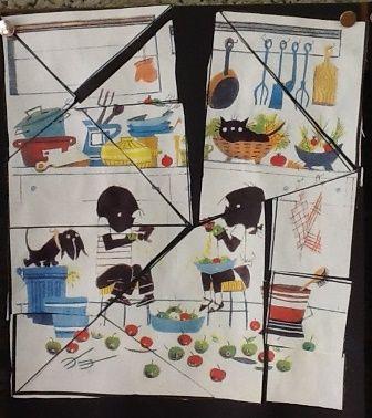 Van een afbeelding van J & J een puzzel maken. Eens een keertje wat anders!